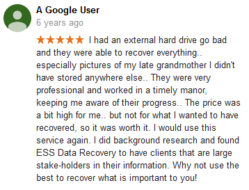 A Google user 05 review