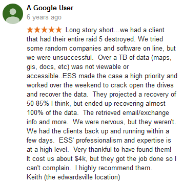 A Google user 07 review