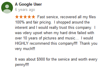 A Google user 11 review