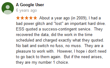 A Google user 15 review