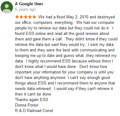 A Google user 19 review