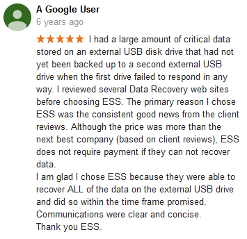 A Google user 24 review