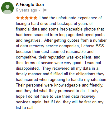 A Google user 26 review