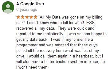 A Google user 31 review