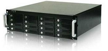 Rack mount 16-bay storage unit
