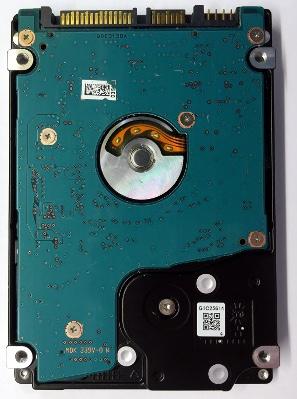 Toshiba laptop drive underside
