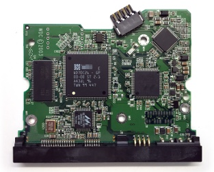 Hard drive printed circuit board, electronics, controller chip