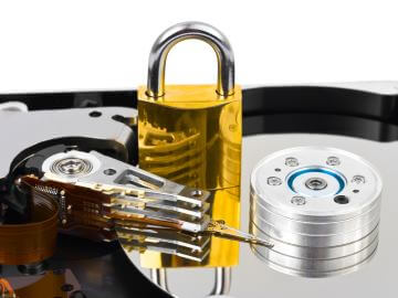 Locked hard drive