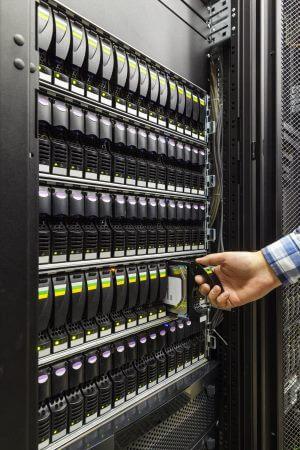 Dense SAN storage rack