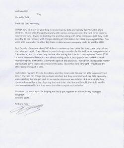 Anthony Roh testimonial