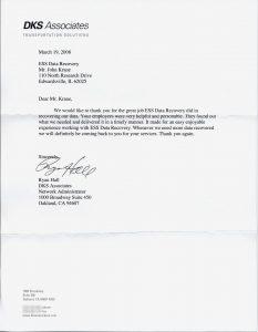 DKS Associates testimonial