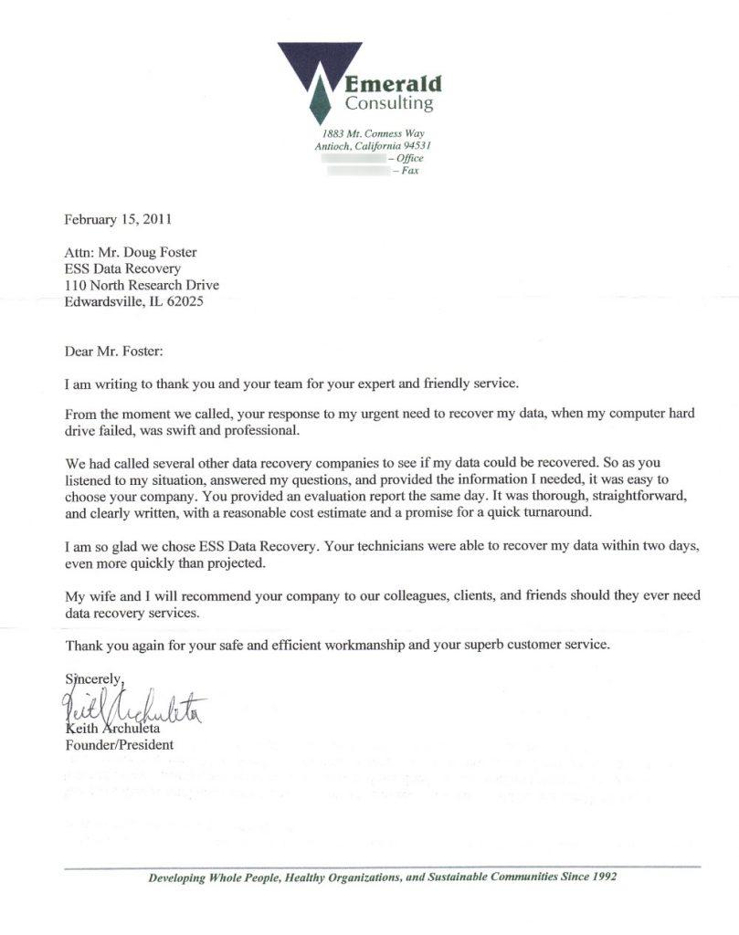 Emerald Consulting testimonial