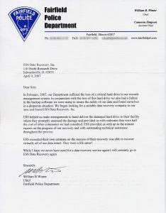 Fairfield Police Department testimonial