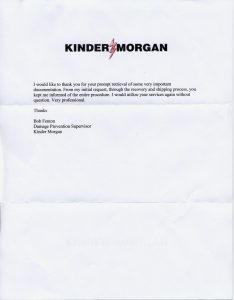 Kinder Morgan testimonial