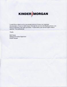 Kinder Morgan testimonial
