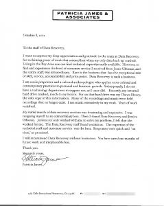 Patricia James & Associates testimonial