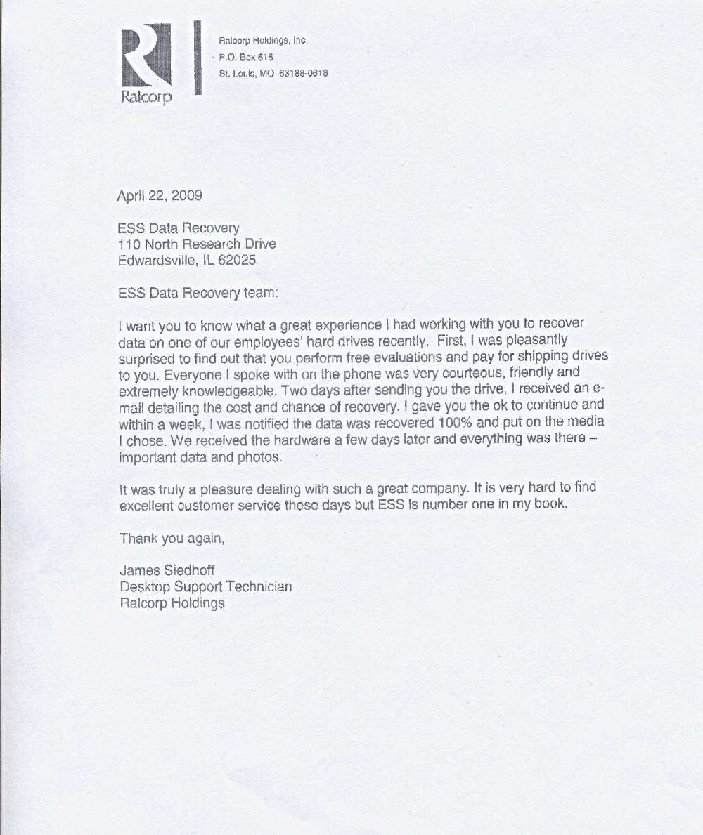 Ralcorp Holdings, Inc. testimonial