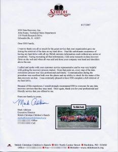 Shiloh Christian Children's Ranch testimonial
