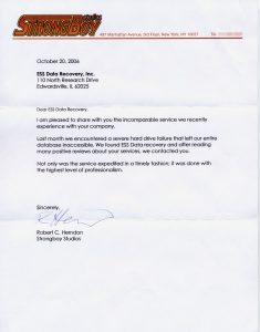 Strongboy Studios testimonial letter