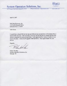 System Operation Solutions, Inc. testimonial