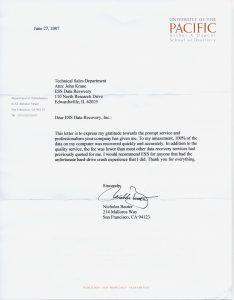 University of the Pacific testimonial
