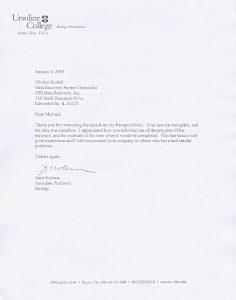 Ursuline College testimonial