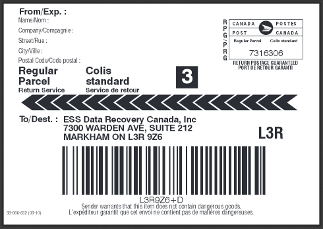 Canada Post Shipping Label  Datarecovery.com