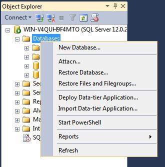 微软SQL-Server的数据库菜单连接
