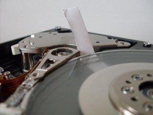 Damaged Hard Drive Platters