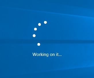Windows 10 working on it upgrade dialog crop