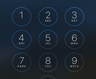 iPhone 6 lock screen passcode entry