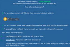 Locky ransomware decrypter on darkweb site