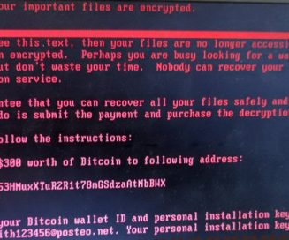 Petya Ransomware Message