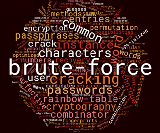 Cracking password techniques word cloud