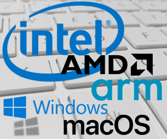 intel amd arm windows macos 327x272