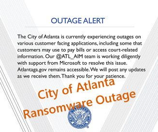 City of Atlanta, Ransomware Outage