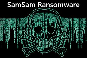 SamSam ransomware skull-and-crossbones