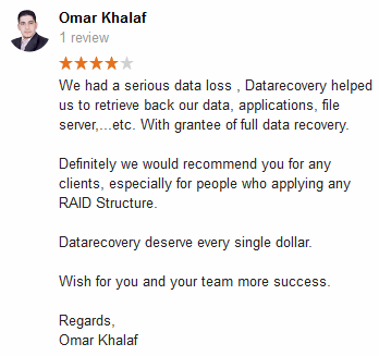 Reviews | Datarecovery com