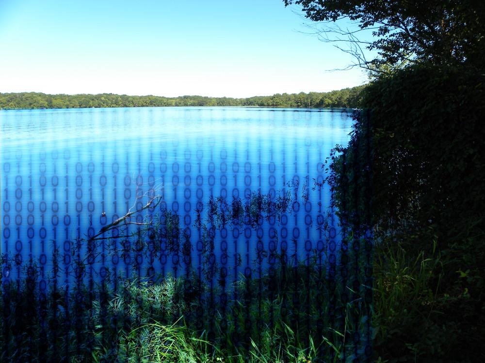 Data lake binary code under water