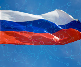 Russian flag computer network overlay