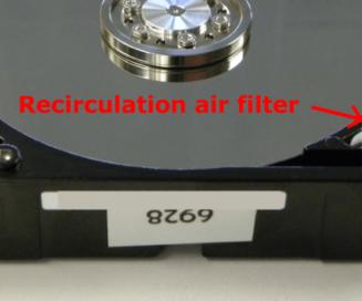 hard drive recirculation air filter