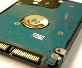 Internal hard drive PCB and SATA ports